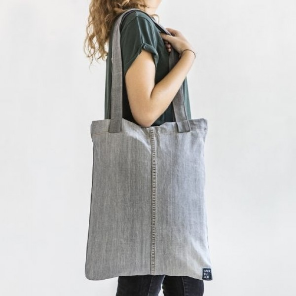 Bossa Tote gris 100% reciclable