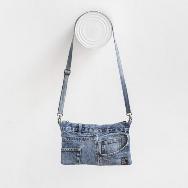 Bossa Upcycled blava denim