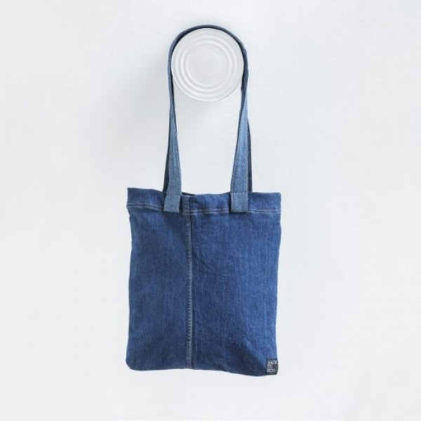 Bossa Tote blava Denim 100% reciclable