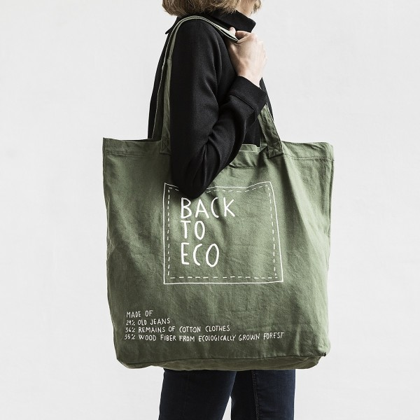 Bossa Back To eco Eco-reciclada verda